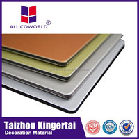Alucoworld attractive fashion aluminium+panneau+composite acm panel wall covering curtain