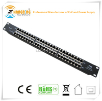 Multiport rack mount 24 port passive POE injector for 24 port Non- PoE switch