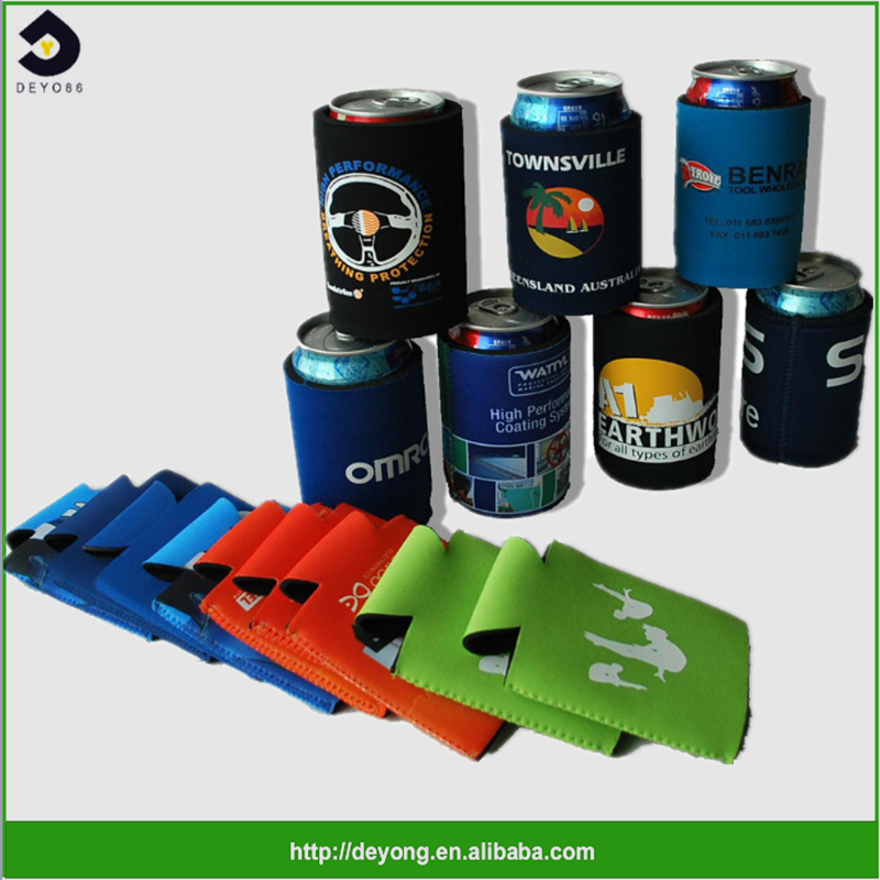 Hot sale Custom Printed insulated neoprene beer can cooler holder sleeve