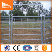 heavy duty cattle corral panels/hot dipped galvanized pipe oval cattle corral panels china supplier
