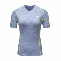 Four colors Wholesale fitness clothing women sexy yoga wear sports running t shirt