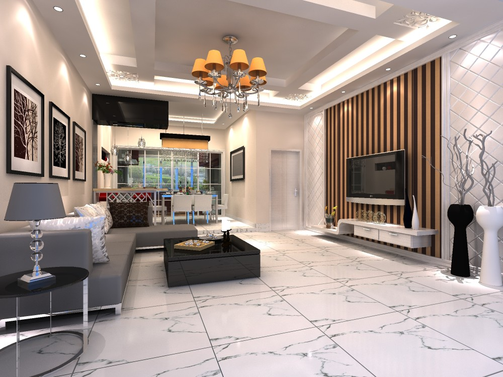 HS608GN foshan white porcelain tile,24x24 inch polished porcelain floor tile