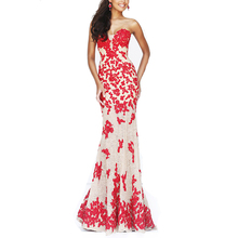 Fashion nude and red sweatheart neckline maxi party dress alibaba lace wedding dress