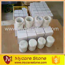 Factory Wholesales Italy Carrara White Marble Candle Jars
