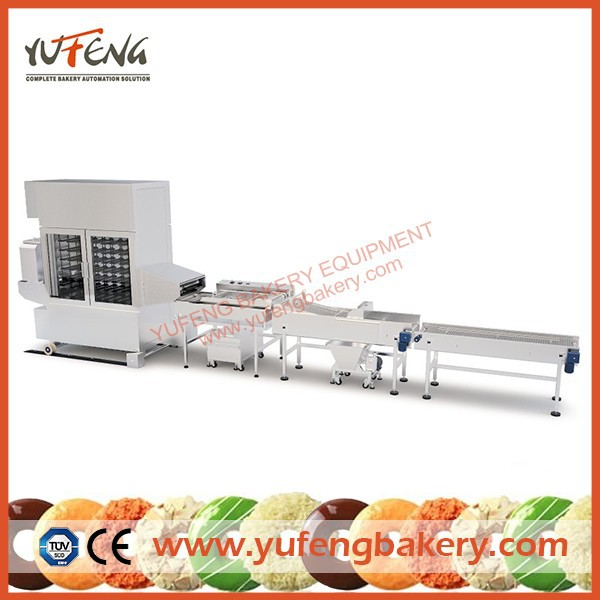 Full Automatic Industrial Yeast Raised Donut Proofer Line with Fryer