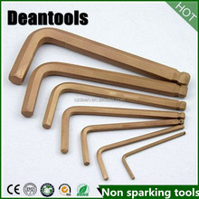 Non-Sparking|Non-Magnetic|Corrosion-Resistant|Hex Key ball peen,DIN 6911|Safety Hand Tools
