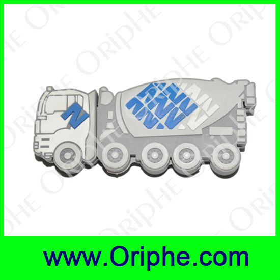 Mixing truck Shape PVC Usb(UPVC0004)