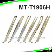 Stainless steel cheap Gold-plated tweezers
