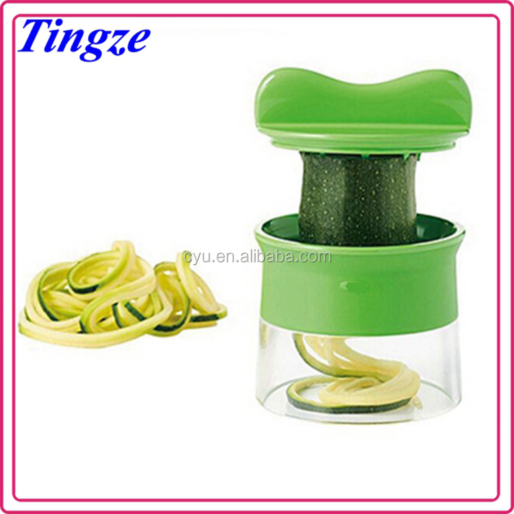 Hot Sale Kitchen Tools cucumber slicer Multifunction Metal spiralizer tri-blade vegetable spiral slicer Vegetable spiral slicer
