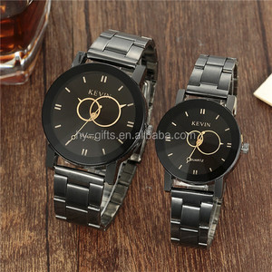 metal steel best couple watch love young couple fashion wrist watch
