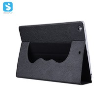 TPU Diamond Pattern PU Leather Shell Rotation Stand Case for iPad 9.7 2017