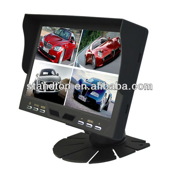 car quad split monitor 7 inches tft lcd color monitor