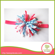 Baby Girl Headbands With Chiffon Flower,Colorful Flower Headwear For Kids