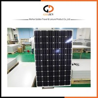 Single crystal 180watt , 90 watt black Solar Panel 12/24V for caravan and trailer