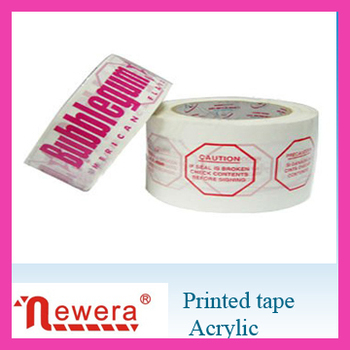 Bopp adhesive Red fragile tape of printed tape