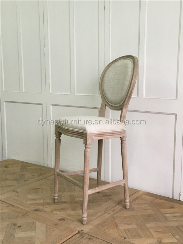 antique furniture french solid wood high bar chair
