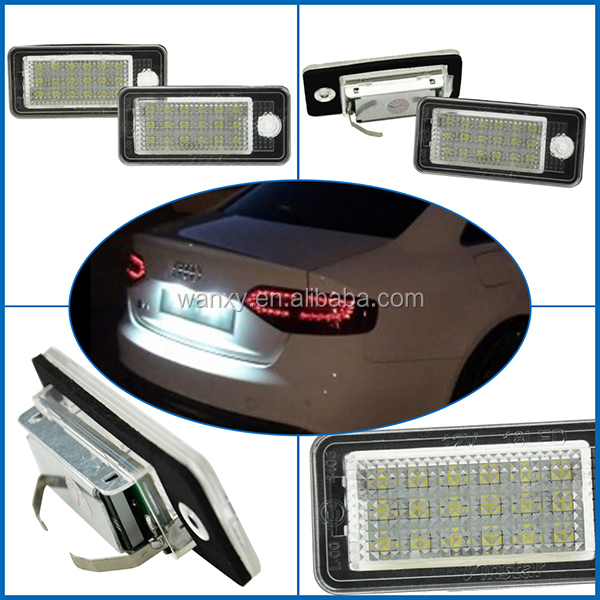car tail lights for Audi Q7 led number license plate lamp for Audi A3 S3 A4 S4 A5 S5 A6 A8 S8