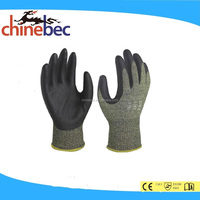 good grip dexterity aramid fiber nitrile leather palm coated safety working gloves manufacturer