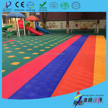 High quality / durable / cheap pp interlocking sports flooring with double layer