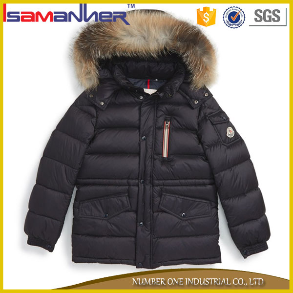 Classic design high quality water resistant down fancy winter coats for kids