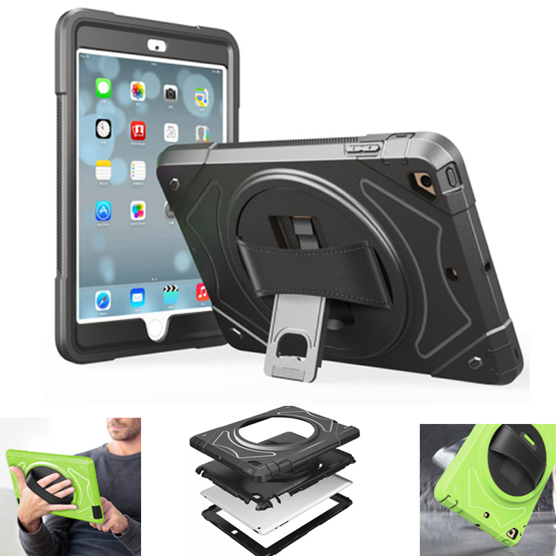 for iPad 2017 Case 360 Degree Rotation Tablet Cover with Stand for iPad Air