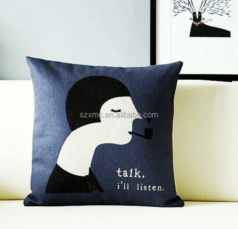 fashion new design customized super comfortable lady theme decorate pillow