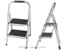 2 step Steel household ladder / Kitchen stool for domestic with rubber rungs and feet