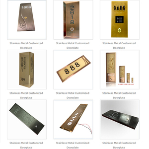 AODSN Customized Doorplate Color Led Lighting Room Number Custom Acrylic Hotel Touch Doorplate