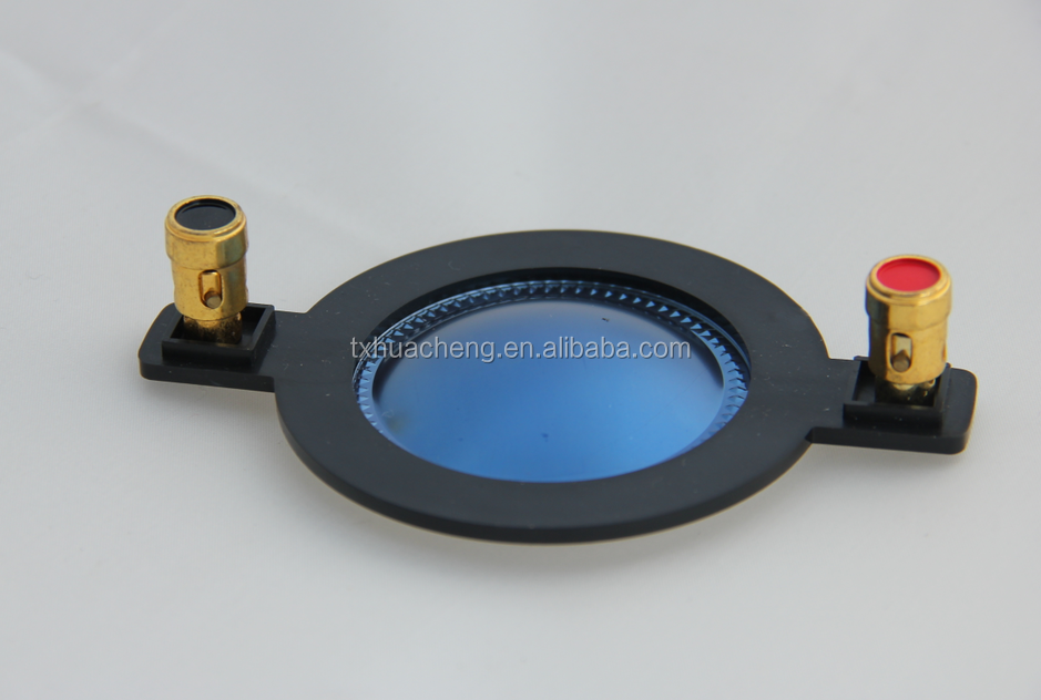 44.4mm blue Titanium voice coil compression diaphragm with terminal