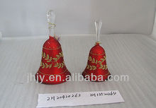 hand blown flashion hand painted christmas decorating red glass bells