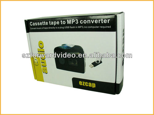 ezcap230 Portable Cassette to MP3 Converter USB Cassette Recorder Tape-to-MP3 Music Player Convert Cassette Tapt to MP3 Format