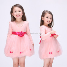 Summer new girls small gauze <strong>dress</strong> pink stitching <strong>girl's</strong> princess <strong>dress</strong>