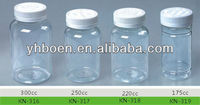 175cc 220cc 250cc 300cc PET plastic pill bottles, medicine bottles, clear pill bottles with CRC caps