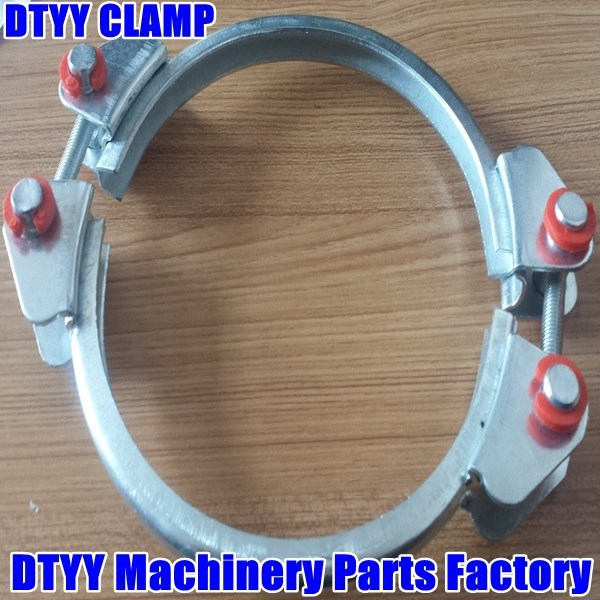 Foe Oil and Gas Duct with SUS304 Stainless Steel Heavy Duty Robust Clamps 201-213mm
