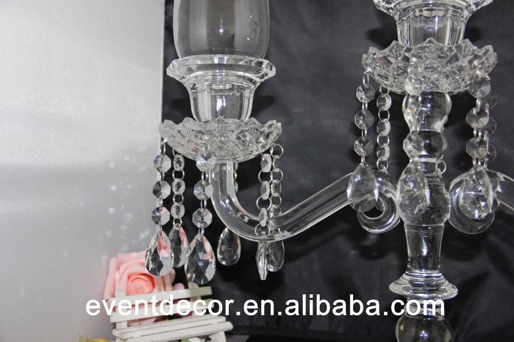 Glass arms wedding candelabra centerpieces flower type