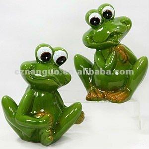 Animaux en c ramique d coration de jardin grenouille for Decoration jardin grenouille