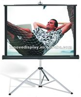 strong aluminum tripod stand screen tripod screen for home theater & business presentation & education