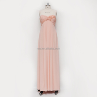 News type 2016 pink color backless lace prom dresses