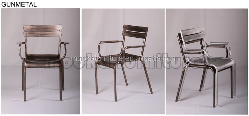 Aluminum cafe arm chair replica fermob luxembourg chair for Alu chair replica