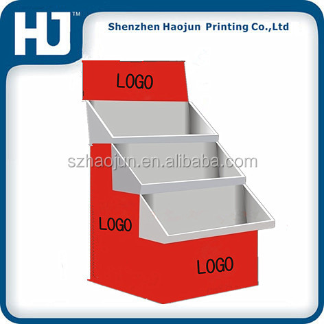 Custom-Made One-Stop Services Corrugated Cardboard Display, China Pop display stand, paper display Rack