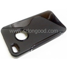 New Fashion S Line Soft Back Cover TPU Case for iPhone 4