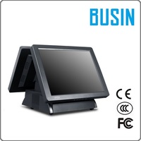 "15"" 5-wire Resistive Touch Dual Screen TH5-H138 with low OEM pos machine price / wifi optional"