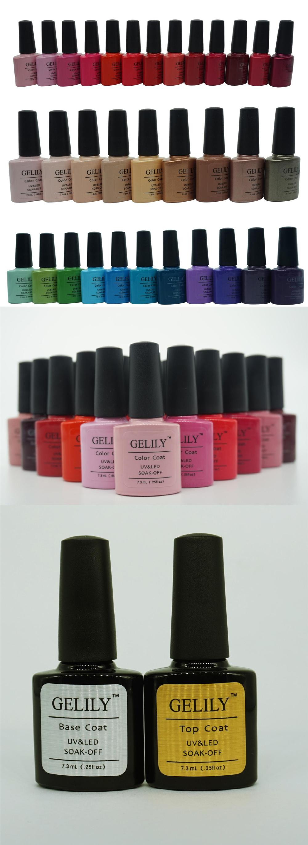 TOP SALE GELILY 79 colors 7.3ml uv gel change colours