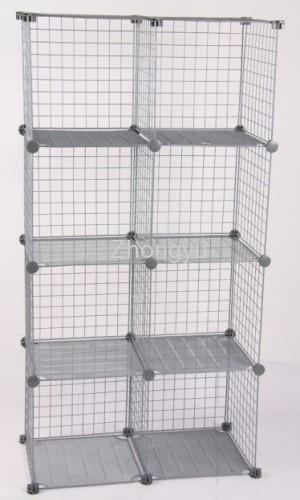 Marvelous Metal Wire Grid Storage Cube