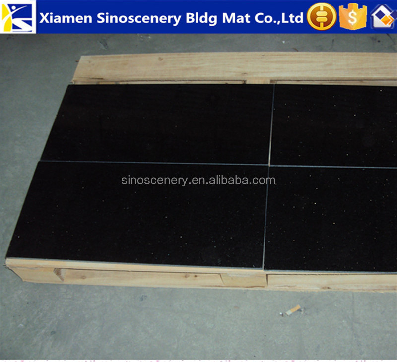 Hot sale black galaxy granite,premium black galaxy granite for wholesale