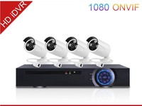 cheap home security camera systems hd 720p ip camera h.264 P2P POE 4ch network standalone cctv camera dvr kit