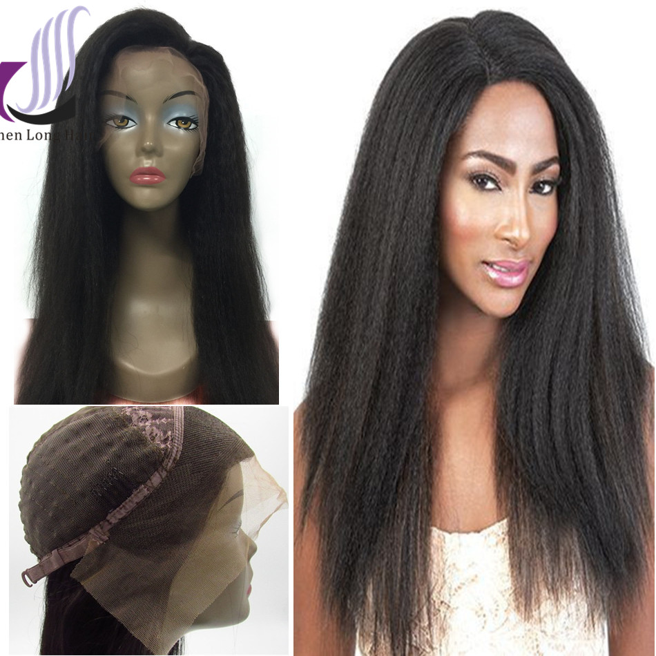 Kinky Straight Front Lace Wig Lace Front Wig 120 Density Afro Wig For South Africa