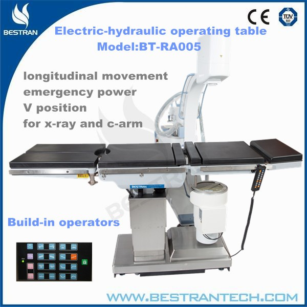 China BT-RA005 Hospital electric hydraulic operating table, manufacture medical operating table metal parts