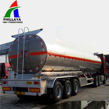 Tir-axle 2 axis 45m3 Aluminum Fuel Tank/insulation Oil Liquid Semi-trailer