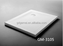 Customized size solid surface stone resin shower tray /shower pan GM-3104